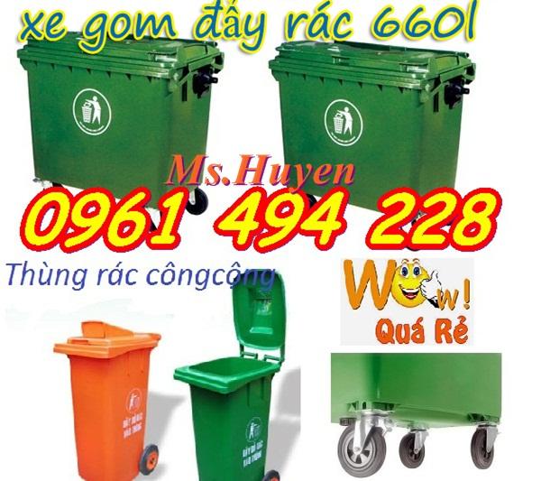 Thùng rác công cộng 240 l HDPE