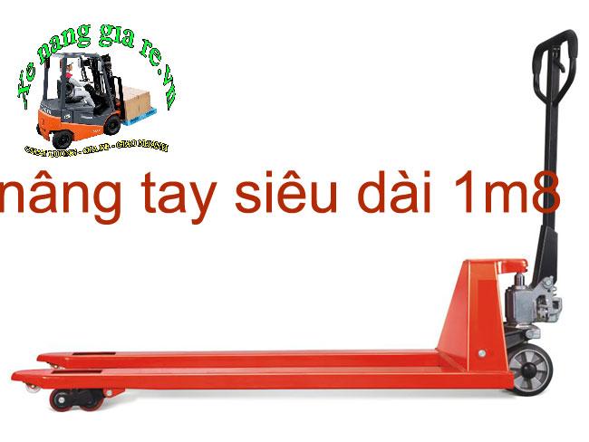 xe nâng tay thấp siêu dài 1m8