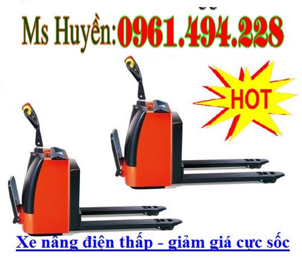 Xe nâng điện thấp 1.5 tấn