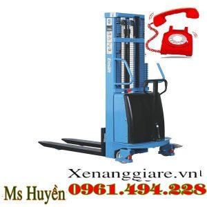 Xe nâng bán tự động 1.5 tấn cao 1m6 1
