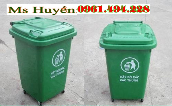 Thùng rác nhựa 60 lit hdpe