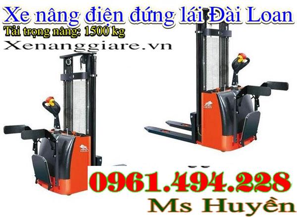 xe nâng điện đứng lái 1.5 tấn nâng 1m6 noveltek