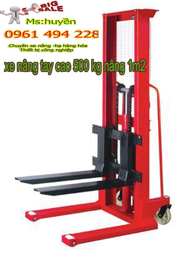 xe nâng tay cao 500 kg nâng 1m2