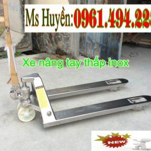 xe nâng tay thấp inox 2.5 tấn