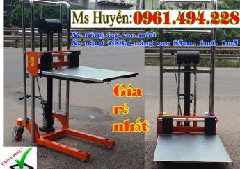 xe nâng tay cao mini 400 kg tại Hoàng Mai