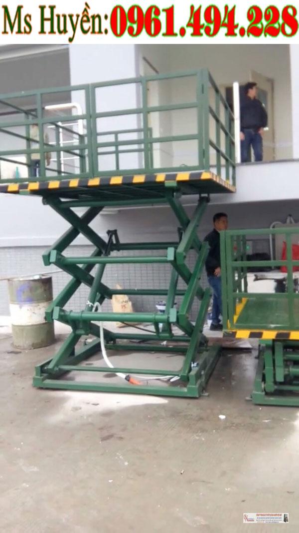 bàn nâng điện thủy lực siêu tải trọng chính hãng