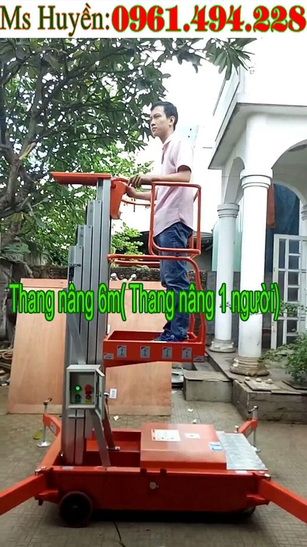 Thang nâng điện 6m (thang nâng một người )